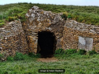 Stoney Littleton Long Barrow entrance. Image © Adam Stanford.