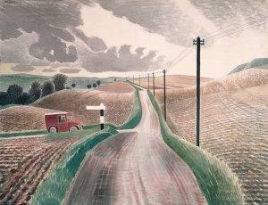 Wiltshire Landscape by Eric Ravilious.