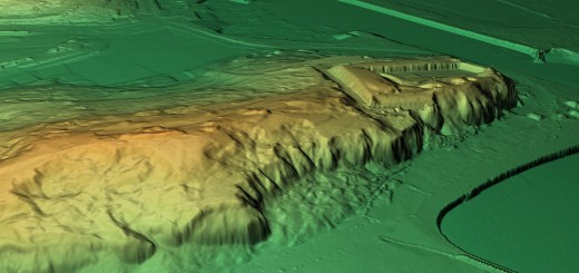 Digital Terrain Model of 'The Castle' or 'Miching Camp', Newhaven, Sussex.