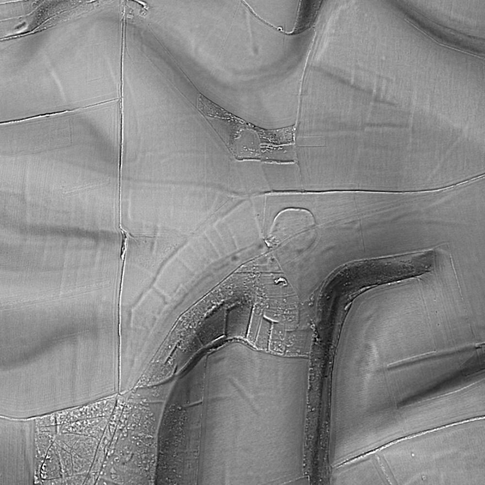 Thundersbarrow Hillfort relief map generated by planlauf/TERRAIN