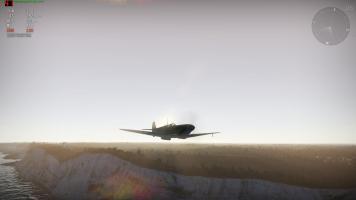 Spitfire over Dover.