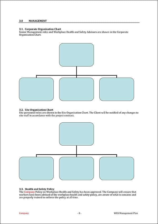 This Whs Management Plan Template Is Suitable For Construction Sites