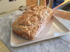 Bread! Beer bread. This is awesome. It take 10 minutes of prep. I might share the recipe later.