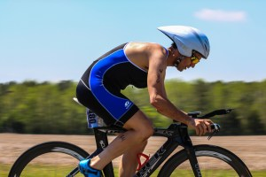 Biker at the Smithfield Sprint Triathlon
