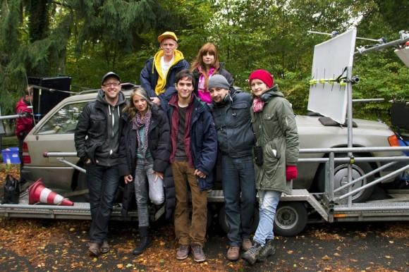 Von links: Produzent Alex weimer, Jytte-Merle Böhrnsen, Pit Bukowski, François Goeske, Josefine Preuß, Regisseur Thorsten Klein und Produzentin Lena Vurma (Foto: Marie Zieger/MovieBrats)