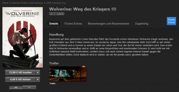 Wolverine iTunes