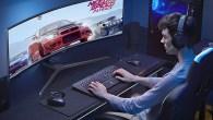 178 derece görüntü açılı ultra geniş Samsung QLED oyun monitörü