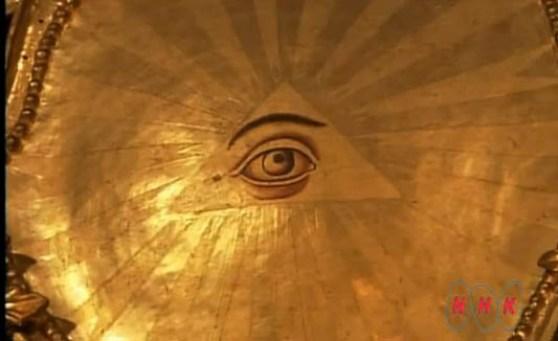 the eye of god in the rila monaster in bulgaria