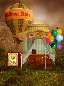 Victorian Carnival Digital Fantasy Backgrounds
