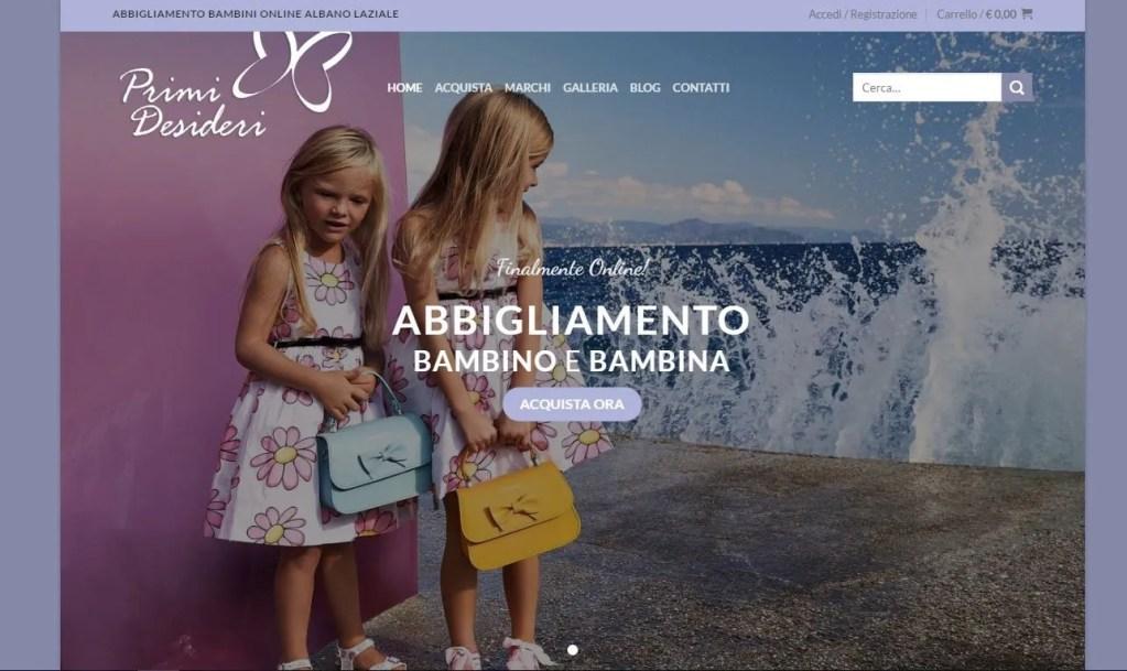 Abbigliamento bambini online