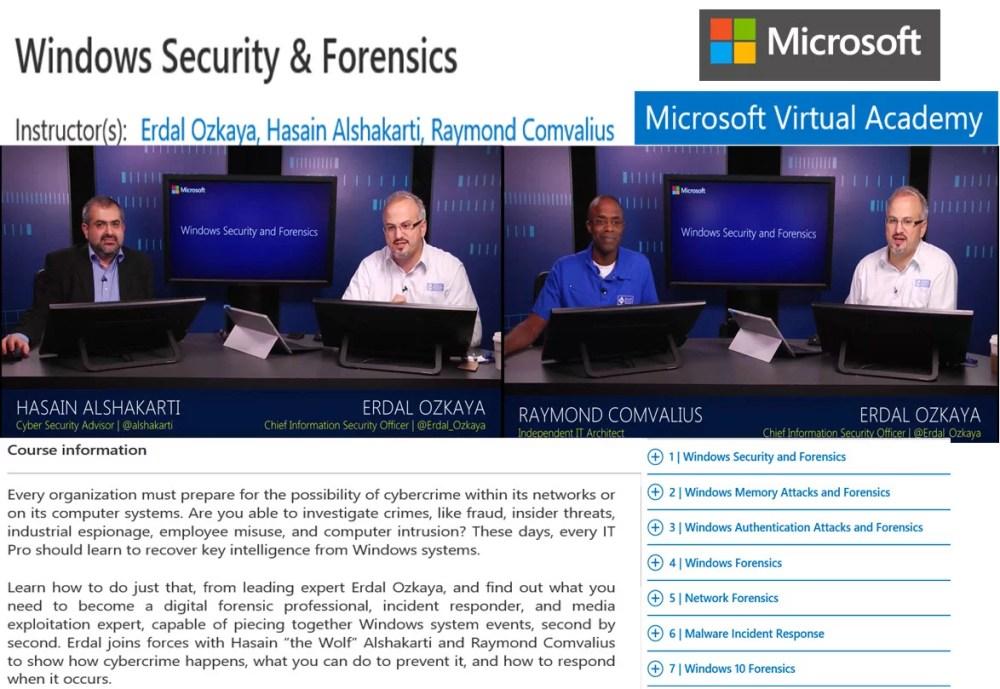 Free Windows 10 forensics online training | Digital