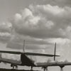 President Harry Truman's Air Force plane landing at Z. Smith Reynolds Airport