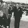 President Harry Truman with shovel