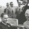 President Harry Truman, North Carolina Governor William Kerr Scott, and Wake Forest College President Harold Tribble