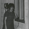 Wake Forest Student Talking on Dormitory Telephone