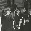 Wake Forest women students' society candle ceremony