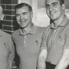 Wake Forest basketball coach Jack McCloskey, with assistants Neil Johnston and Billy Packer