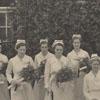 Nurses with flowers