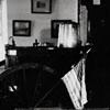 """""""WACHOVIA MUSEUM / 1939 / MRS. MABEL WOLF / REPAIRING ESKIMO DOLLS."""""""