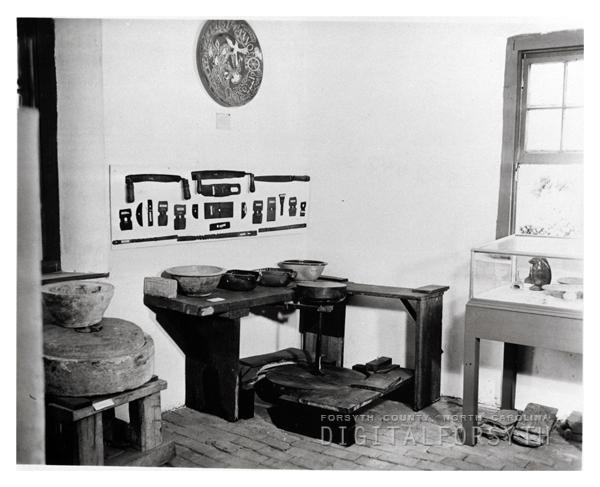 'WACHOVIA MUSEUM / 1939 / NORTH WEST CORNER / 1ST FLOOR OLD BLDG.'