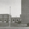 Exterior view of the James G. Hanes Community Center, 1958.