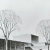 Architectural drawing of the James G. Hanes Community Center.
