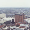 Aerial of downtown from the new Wachovia Center, looking northwest, 1996.