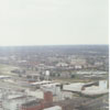 Aerial of downtown from the new Wachovia Center, showing the Forsyth County Detention Center, 1996.