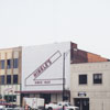 Buildings in the 100 block of West Fourth Street, to be demolished for the One West Fourth building, 2000.