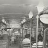 Interior of a city bus, 1962.