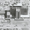 Aerial showing Forsyth Memorial Hospital under construction, 1962.