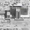 Aerial showing Forsyth Memorial Hospital under construction, 1962.