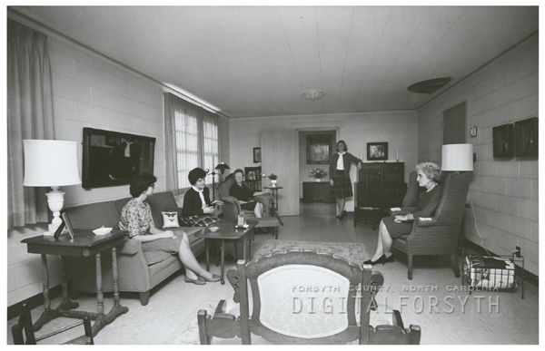 Wake Forest College and the Mary Reynolds Babcock Dormitory, 1962.