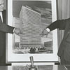 Men present at the announcement of the plans for the new Wachovia Bank Building, 1962.