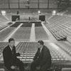 Wayne Corpening and Bob Ellett in the Memorial Coliseum, 1961.