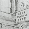 City National Bank on West Fourth Street, 1960.