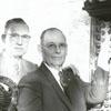Retiring firemen, Captain S. B. Davis and Fireman C. A. Hoots, 1959.
