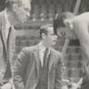 "Wake Forest basketball coach, Horace ""Bones"" McKinney and player Dave Budd, 1959."