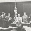 Swearing in ceremony for the Board of Aldermen, 1959.