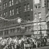 Christmas parade at the intersection of West Fourth Street and North Liberty Street, 1960.