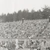 Football game at Bowman Gray Stadium between Wake Forest and University of North Carolina, 1957.