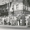 Christmas parade at West Fourth and Marshall Streets, 1958.