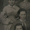 Group of girls probably from Salem Academy in 1868.