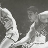 Wake Forest College playing basketball against the University of South Carolina, 1958.