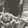Wake Forest College playing the University of Maryland in basketball, 1958.