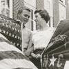 Ed Kelly and Linda Wiesner in front of Gray High School, 1958.