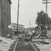 Repairing the bumps around the railroad tracks on Wachovia Street, 1967.