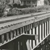 Railroad trestle at Northwest Boulevard and North Broad Street, 1958.