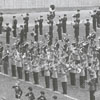 Wake Forest College band playing at the football game, 1958.