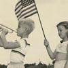 James Clarence Sebastian and Karlynn Morgan celebrate Independence Day, 1957.